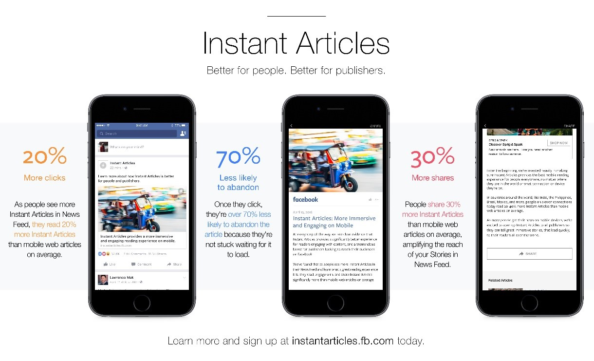 Mobile Apps for Instant Articles