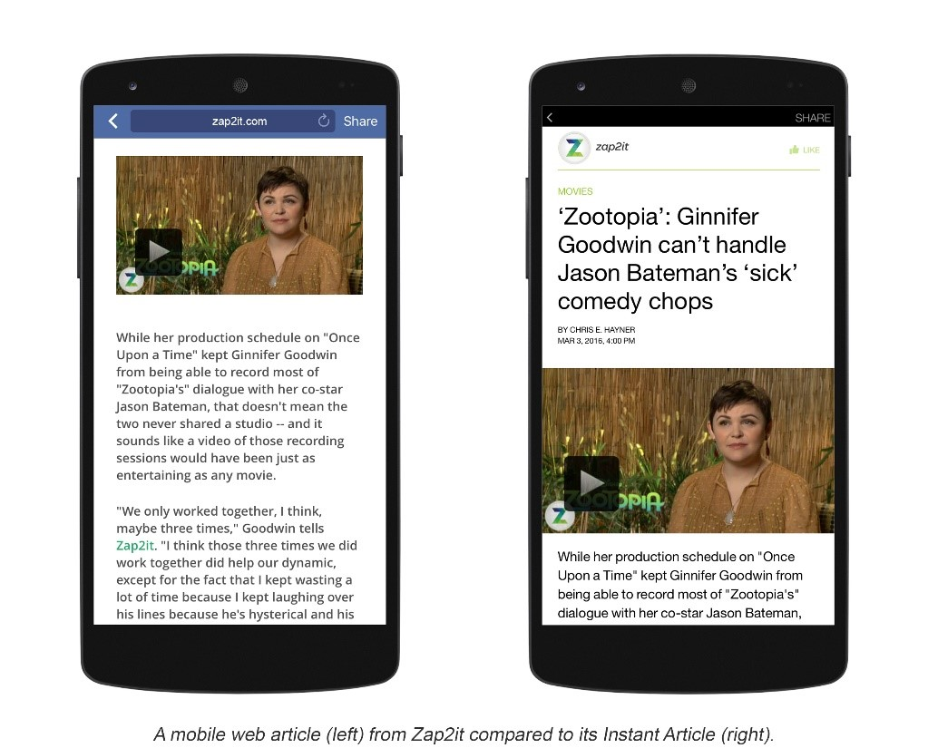 Example: Instant Articles API